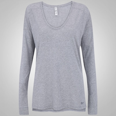 Camiseta Manga Longa Under Armour Favorite Collegi - Feminina