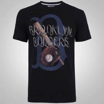 Camiseta New Era Vintage Brooklyn Dodgers - Masculina