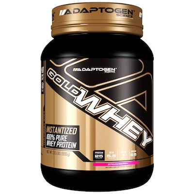 Whey Protein Adaptogen Science Gold Whey - Morango - 909g