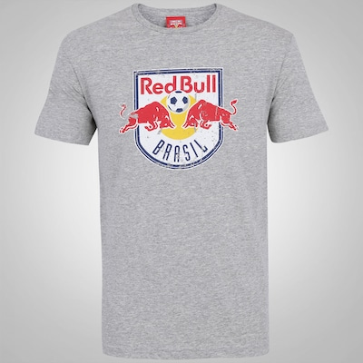 Camiseta do Red Bull Brasil Logo Color Groung - Masculina