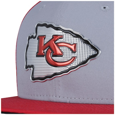 Boné Aba Reta New Era 9FIFTY Kansas City Chiefs NFL Gray/Red - Snapback - Adulto