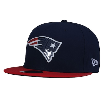 Boné Aba Reta New Era 59FIFTY New England Patriots NFL BlueDark - Fechado - Adulto