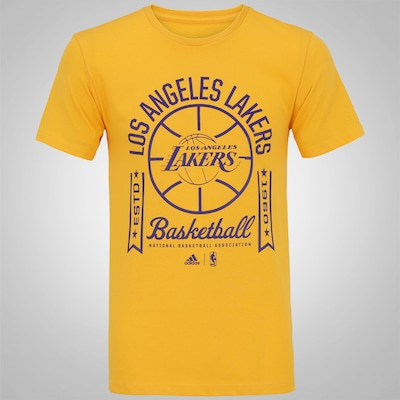 Camiseta adidas Los Angeles Lakers NBA - Masculina