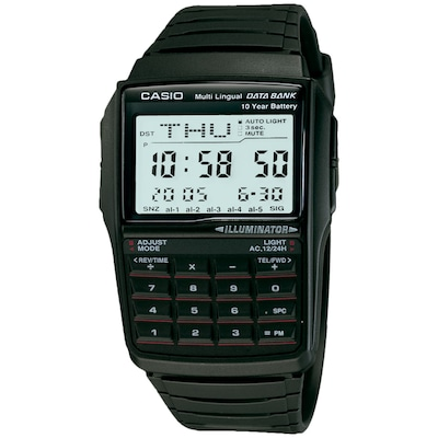 Relógio Digital Casio Data Bank Vintage DBC32 - Masculino