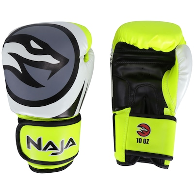 Luvas de Boxe Naja Colors Flúor - 10 OZ - Adulto