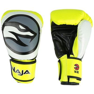 Kit de Boxe Naja: Bandagem + Protetor Bucal + Luvas de Boxe Colors - 16 OZ - Adulto