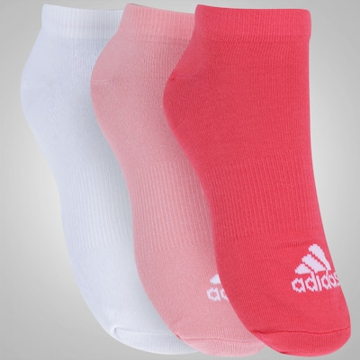 Kit de Meia adidas Performance No Show Thin com 3 Pares - Adulto