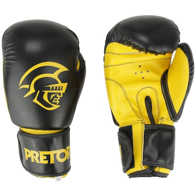 Kit de Boxe Pretorian: Bandagem + Protetor Bucal + Luvas de Boxe First - 12 OZ - Adulto