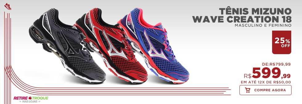 Tênis Wave Mizuno Creation 18