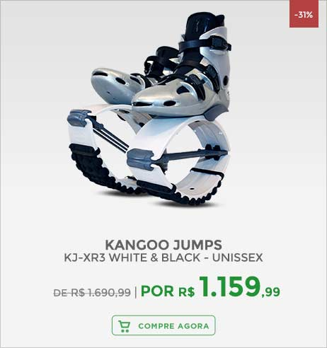 Kangoo Jumps KJ-XR3 White & Black - Unissex