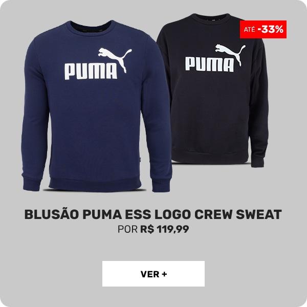 Blusão-Puma-Ess-Logo-Crew-Sweat---Feminino-e-Masculino