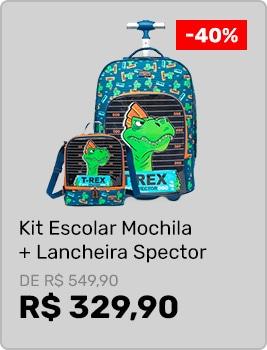Kit-Mochila-de-Rodinha-+-Lancheira-Spector-Dinossauro-Escolar