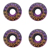 Rodas de Skate Solo Decks Purple Black com 4 Unidades