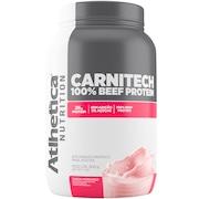 Carnitech 100% Beef Protein Atlhetica - Morango - 900g