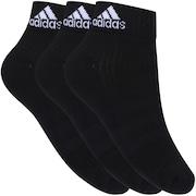Kit de Meia adidas Ankle MID Cushion 3S com 3 Pares - Adulto