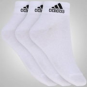 Kit de Meias adidas Ankle MID Thin com 3 Pares - Adulto