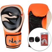 Kit de Boxe Naja: Bandagem + Protetor Bucal + Luvas de Boxe Colors - 12 OZ - Adulto