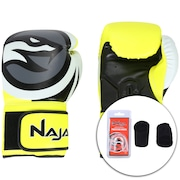 Kit de Boxe Naja: Bandagem + Protetor Bucal + Luvas de Boxe Colors - 14 OZ - Adulto