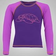 Camiseta Manga Longa com Proteção Solar UV Oxer Tartaruga - Infantil
