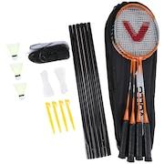 Kit de Badminton Vollo Sports VB004: 4 Raquetes, 3 Petecas, 1 Rede e 1 Raqueteira