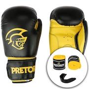 622764446b Kit de Boxe Pretorian  Bandagem + Protetor Bucal + Luvas de Boxe First - 14  OZ - Adulto