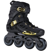 c864494e9 Patins Oxer Darkness Gold - In Line - Freestyle - ABEC 7 - Base de Alumínio  - Adulto