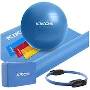 Kit de Yoga e PilatesKikos: Bola, Anel, Bloco, Tapete e Faixa