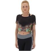 Blusa Cropped Colcci Fitness Estampada - Feminina
