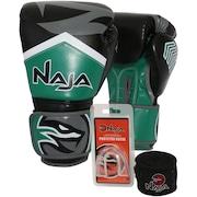 Kit de Boxe Naja: Bandagem + Protetor Bucal + Luvas de Boxe New Extreme - 10 OZ - Adulto
