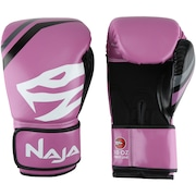 Kit de Boxe Naja: Bandagem + Protetor Bucal + Luvas de Boxe First - 10 OZ - Adulto