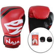 Kit de Boxe Naja: Bandagem + Protetor Bucal + Luvas de Boxe First - 14 OZ - Adulto