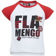 Camiseta do Flamengo School Feminina - Infantil