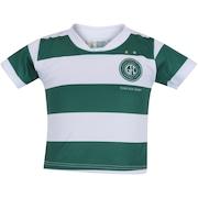 Kit de Uniforme de Futebol do Guarani para Bebê: Camisa + Calção - Infantil