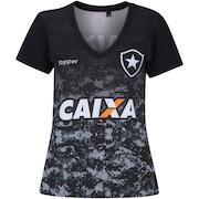 e60f16b8a99d6 Camisa do Botafogo Aquecimento 2017 Topper - Feminina