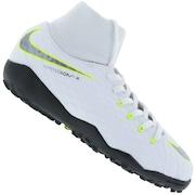Chuteira Society Nike Hypervenom Phantom X 3 Academy DF TF - Infantil