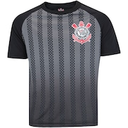 Camiseta do Corithians Black Stripes - Infantil