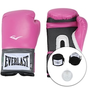 3628db8dd Kit de Boxe Everlast  Bandagem + Protetor Bucal + Luvas de Boxe Training -  12 OZ - Adulto