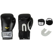 Kit de Boxe Everlast: Bandagem + Protetor Bucal + Luvas de Boxe Training - 14 OZ - Adulto