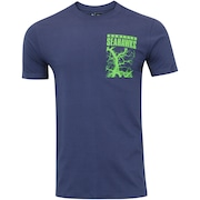 Camiseta New Era Seattle Seahawks Camo Revisi - Masculina