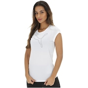 Camiseta Puma Elevated Ess Cat Heather - Feminina