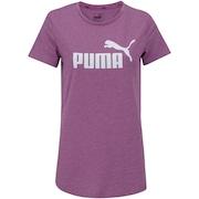 Camiseta Puma Elevated Ess Logo Heather - Feminina