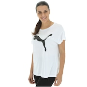 Camiseta Puma Elevated Ess Logo - Feminina