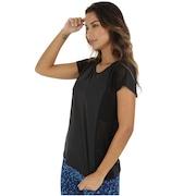 Camiseta Oxer Recorte Tule Fit - Feminina
