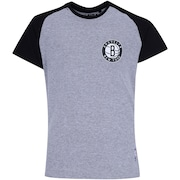 Camiseta NBA Brooklyn Nets Raglan Mini Logo - Infantil