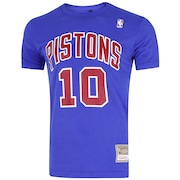 Camiseta Mitchell & Ness Detroit Pistons Name and Number - Masculina