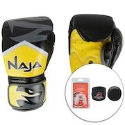 Kit de Boxe Naja: Bandagem + Protetor Bucal + Luvas de Boxe New Extreme 2U - 12 OZ - Adulto
