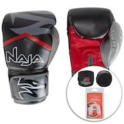 75d750cd5 Kit de Boxe Naja  Bandagem + Protetor Bucal + Luvas de Boxe New Extreme 19  - 12 OZ - Adulto