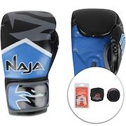 359b85099 Kit de Boxe Naja  Bandagem + Protetor Bucal + Luvas de Boxe New Extreme 3X  - 12 OZ - Adulto