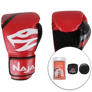 bc115fa73 Kit de Boxe Naja  Bandagem + Protetor Bucal + Luvas de Boxe First 06 - 12  OZ - Adulto