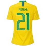Camisa da Seleção Brasileira I 2018 Nike nº 21 Firmino - Feminina